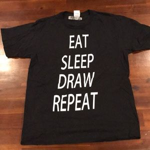 Eat Sleep Draw Repeat funny t-shirt